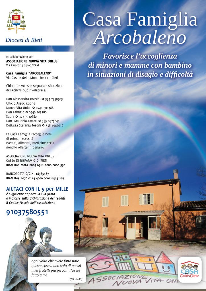 Diocesi di Rieti - Locandina Casa Famiglia Arcobaleno